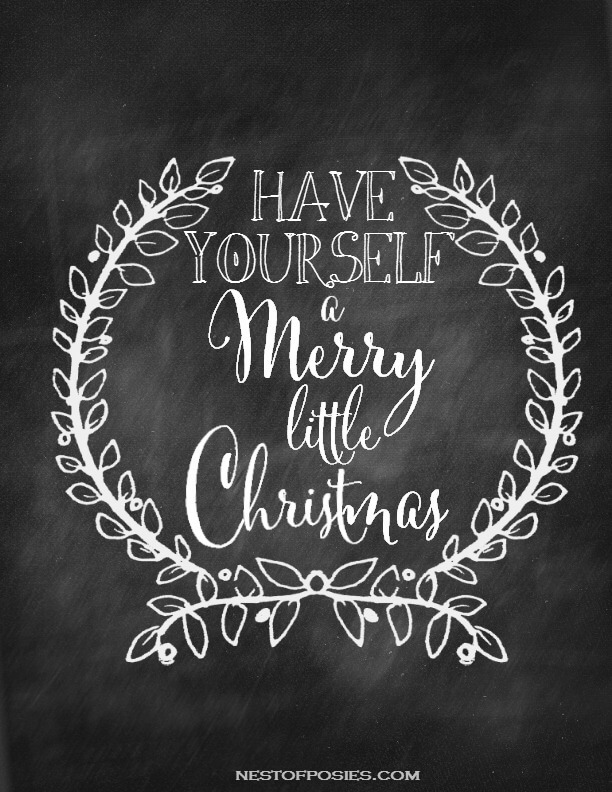 Have-yourself-a-Merry-little-Christmas-Chalkboard-Printable